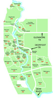 Southeast Calgary Community Map for MLS® System Zone D