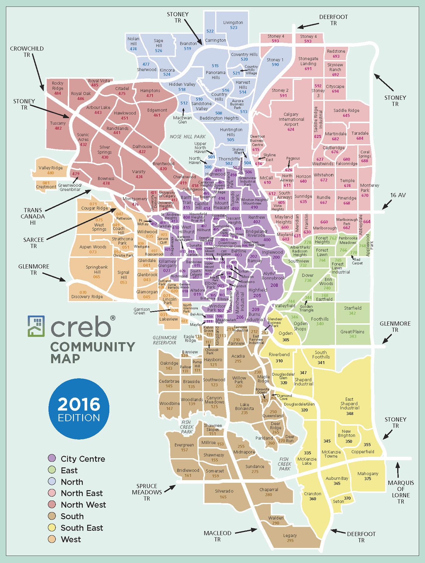 Calgary Communities MAP